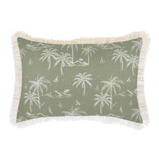 Sage Postcards Coastal Fringe Indoor/Outdoor Cushion