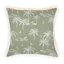 Postcards Coastal Fringe Indoor/Outdoor Cushion