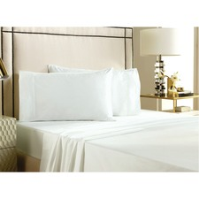 White Felixe Peach Skin 500TC Cotton King Sheet Set