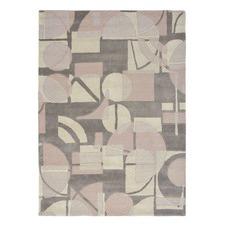 Harlequin Segments Geometric Wool Rug