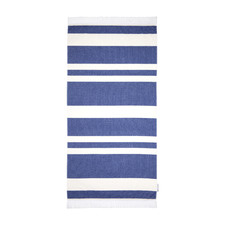 Blue Striped Cotton Fouta Beach Towel