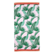 Leaf Luxe Cotton Beach Towel