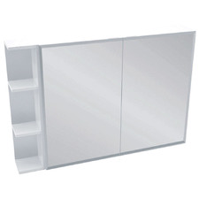 105cm Bevel Mirror Cabinet Set with 3 Shelves