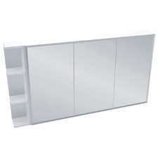 135cm Bevel Mirror Cabinet Set  with 3 Shelves