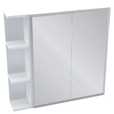 75cm Bevel Mirror Cabinet Set with 3 Shelves