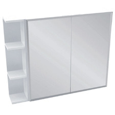 90cm Bevel Mirror Cabinet Set 3 Shelves