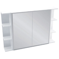 105cm Bevel Mirror Cabinet Set with 6 Shelves
