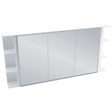 150cm Bevel Mirror Cabinet Set with 6 Shelves