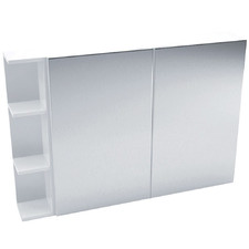 105cm Pencil Mirror Cabinet Set with 3 Shelves