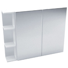 90cm Pencil Mirror Cabinet Set with 3 Shelves