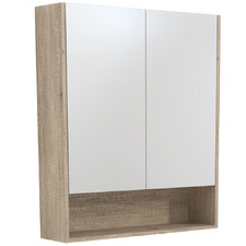 75cm Uni Mirror Cabinet with Side Panels & Undershelf