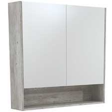 90cm Uni Mirror Cabinet with Side Panels & Undershelf