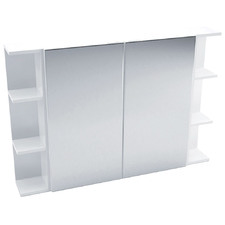 105cm Pencil Mirror Set with 6 Shelves