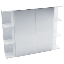 90cm Pencil Mirror Set with 6 Shelves