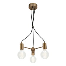 Colorado 3 Light Aged Brass Pendant