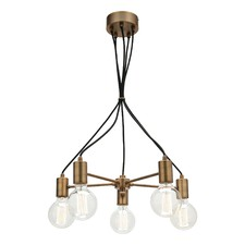 Colorado 5 Light Aged Brass Pendant