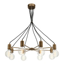 Colorado 8 Light Aged Brass Pendant
