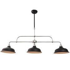 Black Newport 3 Light Pendant