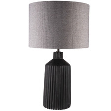 Black Paxton Grooved Table Lamp