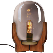 Smoked Glass Forbes Table Lamp