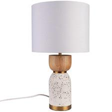 White Lottie Terrazzo Table Lamp