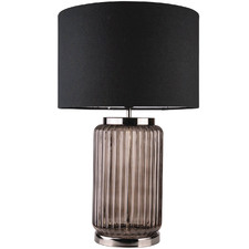 Lindsay Grooved Glass Table Lamp