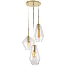 Melba 3 Light Glass Pendant Light