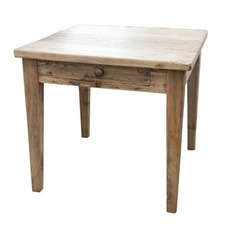 Recycled Elm 1 Drawer Side Table