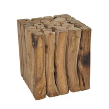 Tropica Square Woody Stool