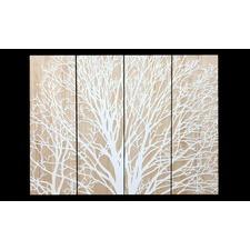 Mangowood Reverse Stunning Tree White Artwork