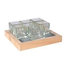 Kesa Square Votive Tray (Set of 2)