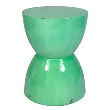 Cup Distressed Finish Stool