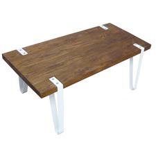 Liam Industrial Elm Wood Coffee Table