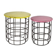 Malta Round Side Tables (Set of 2)