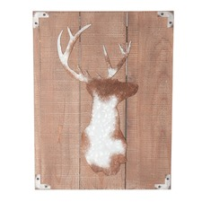 Luxe Wooden Stag Wall Art