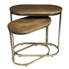Luxe Oblong Side Tables (Set of 2)