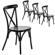 Ruelle Outdoor Stackable Dining Chairs (Set of 4)