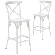 Ruelle Outdoor Bar Chairs (Set of 2)
