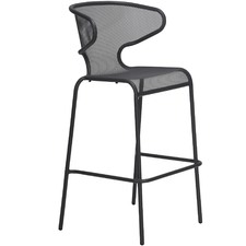Movida Steel Outdoor Bar Chairs (Set of 4)