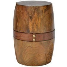 Dark Woody Teak Wood Diner Stool