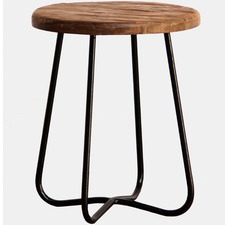 Chelsy Curved Teak Wood Stool