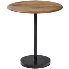 Cosmo Teal Wood Side Table
