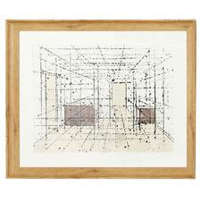 Geometry In Space Framed Canvas Wall Art