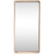 Natural Cooper Rectangular Wooden Wall Mirror