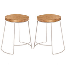 45cm Natural Concept Splayed Counter Stools (Set of 2)