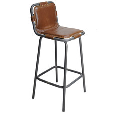 75cm Brown Stingray Faux Leather Barstool