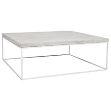 White Sunniva Concrete-Top Coffee Table