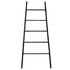 Black Bamboo Splayed Ladder Shelf