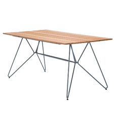 Sketch Metal & Bamboo Outdoor Dining Table
