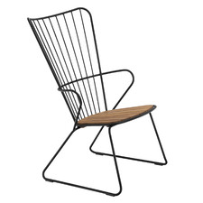 Paon Metal & Bamboo Outdoor Lounge Chair